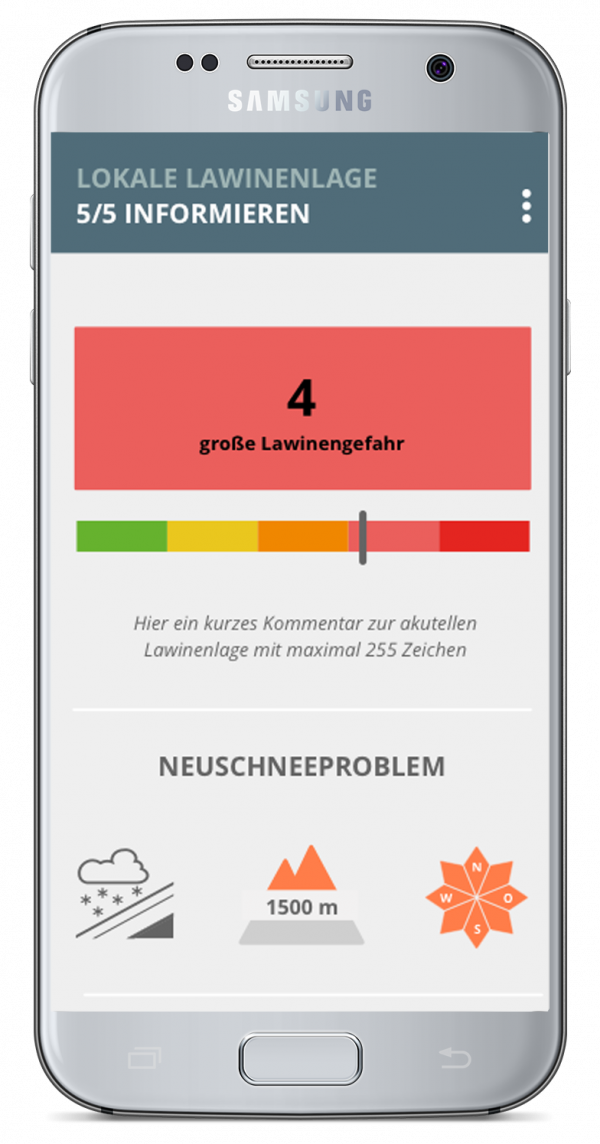 Risikomanagement für Skigebiete, Mobile Tools | LO.LA Alpine Safety Management