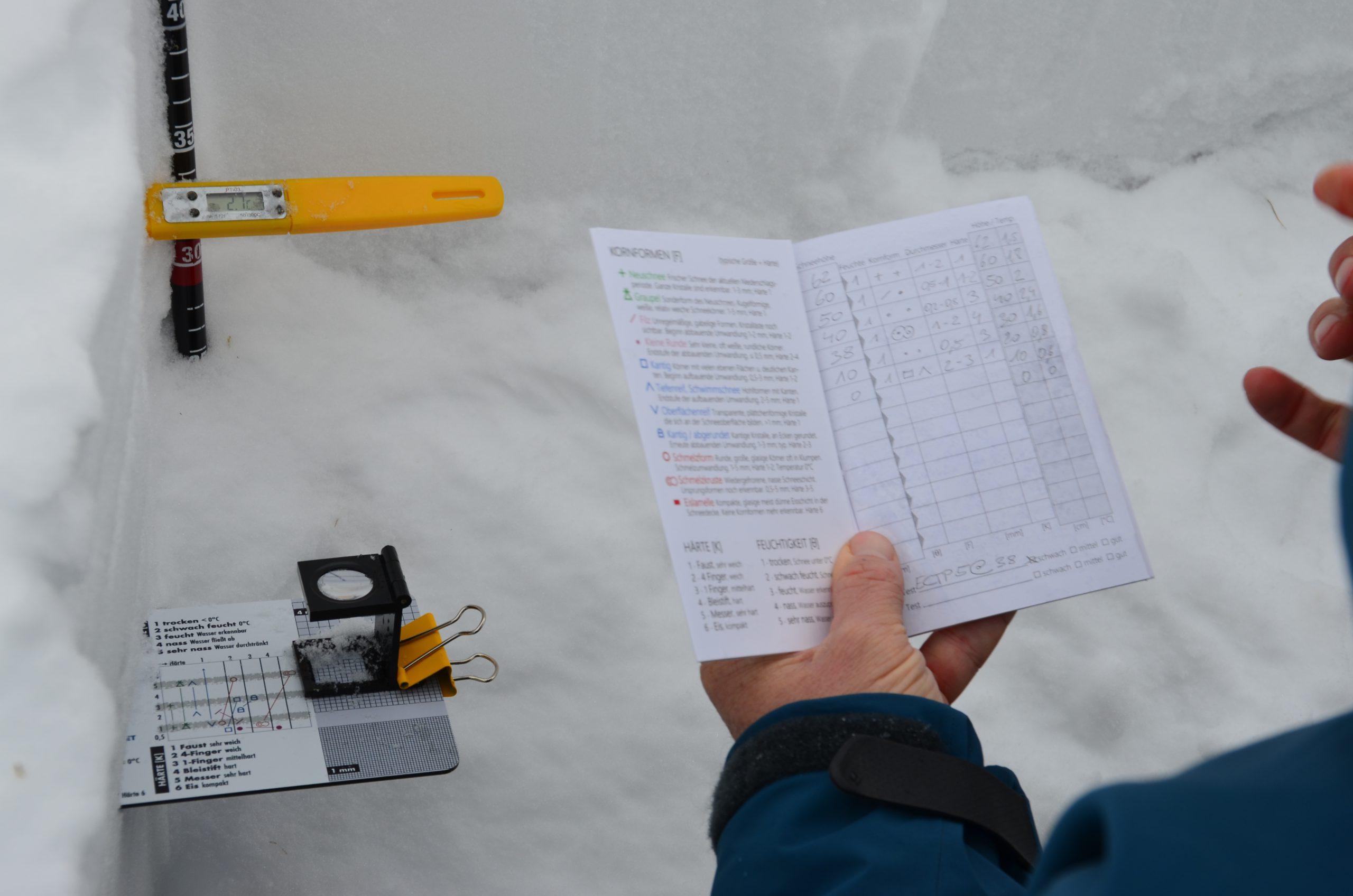 Praxistipps für das Graben eines Schneeprofils – Teil 1/2