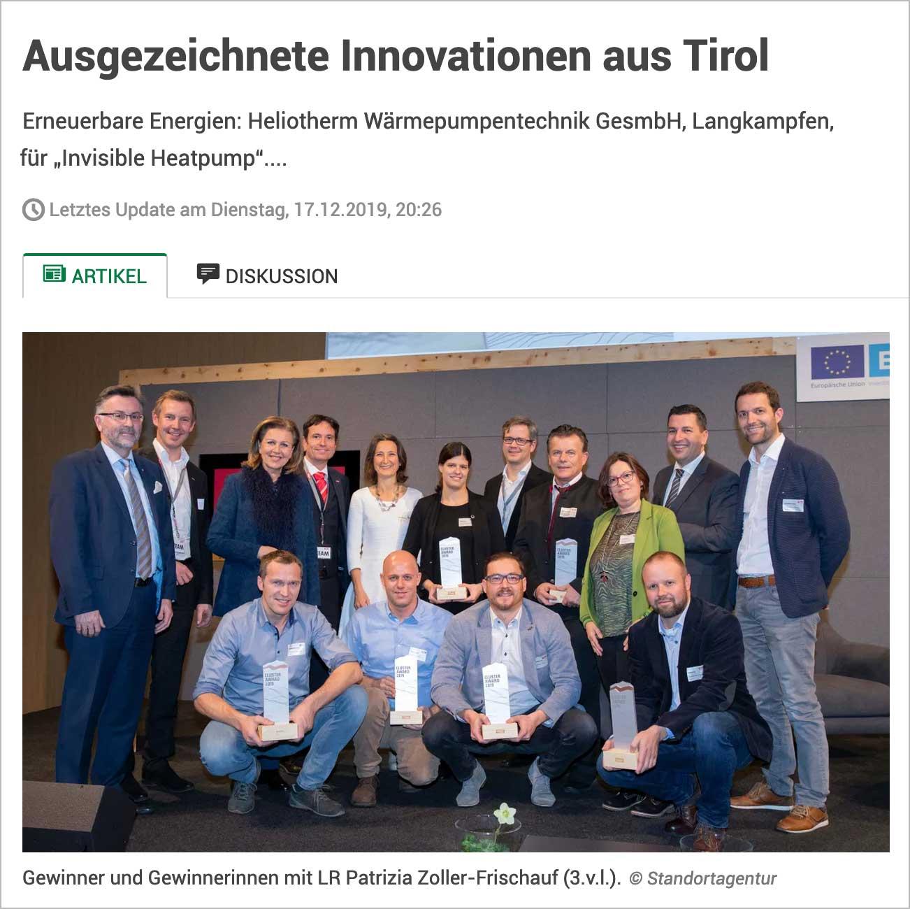 Ausgezeichnete Innovationen aus Tirol, Presseartikel | LO.LA Alpine Safety Management